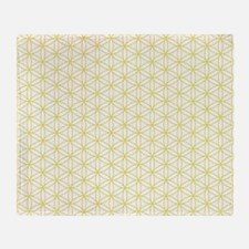 Flower of Life Ptn YW Throw Blanket