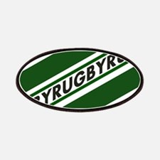Rugby Striped green white Patch