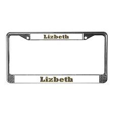 Lizbeth Gold Diamond Bling License Plate Frame