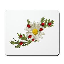 Ladybug and Flower Mousepad