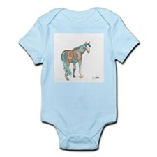 Abstract Watercolor Horse Painting Body Suit