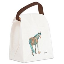 Abstract Watercolor Horse Painting Canvas Lunch Ba