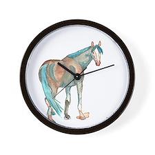 Abstract Watercolor Horse Painting Wall Clock