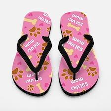 Saluki dog Mom gift Flip Flops
