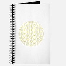 Flower Of Life Yellow Journal