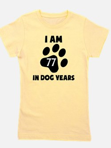 11th Birthday Dog Years Girl's Tee