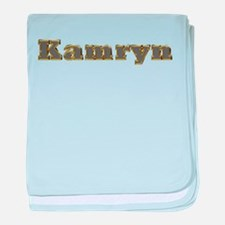 Kamryn Gold Diamond Bling baby blanket