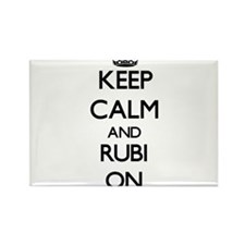 Keep Calm and Rubi ON Magnets