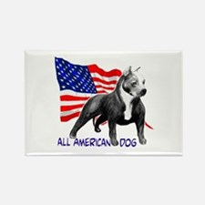 Unique American staffordshire terrier Rectangle Magnet (10 pack)