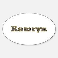Kamryn Gold Diamond Bling Oval Decal