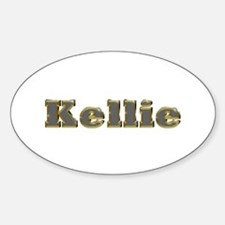 Kellie Gold Diamond Bling Oval Decal