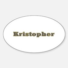 Kristopher Gold Diamond Bling Oval Decal