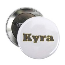 Kyra Gold Diamond Bling Button