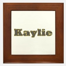 Kaylie Gold Diamond Bling Framed Tile