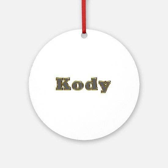 Kody Gold Diamond Bling Round Ornament