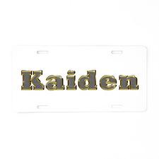 Kaiden Gold Diamond Bling Aluminum License Plate