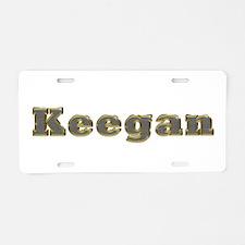 Keegan Gold Diamond Bling Aluminum License Plate