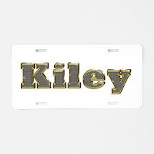 Kiley Gold Diamond Bling Aluminum License Plate
