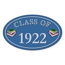 Class Of 1922 Blue Vinyl Oval Decal