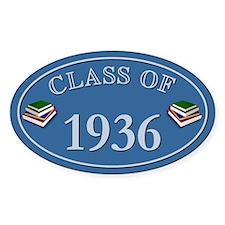 Class Of 1936 Blue Vinyl Oval Decal