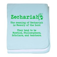 The Meaning of Zechariah baby blanket