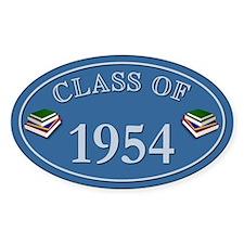 Class Of 1954 Blue Vinyl Oval Decal