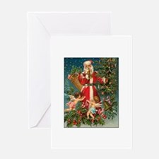 Old Fashioned Christmas - Victorian Santa Claus wi
