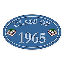 Class Of 1965 Blue Vinyl Oval Decal
