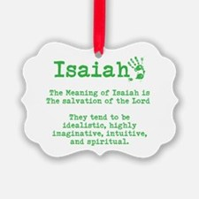 The Meaning of Isaiah Ornament