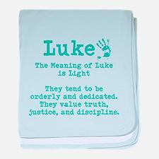 The Meaning of Luke baby blanket