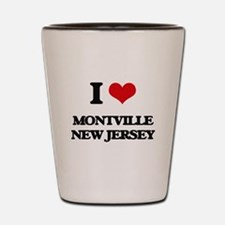 I love Montville New Jersey Shot Glass