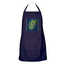 PAINTED PEACOCK FEAHER SC1 Apron (dark)