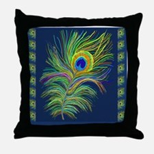 PAINTED PEACOCK FEAHER SC1 Throw Pillow