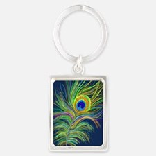 PAINTED PEACOCK FEAHER SC1 Keychains