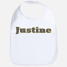 Justine Gold Diamond Bling Bib