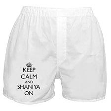 Keep Calm and Shaniya ON Boxer Shorts
