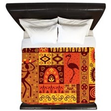 African Traditional Ornament King Duvet