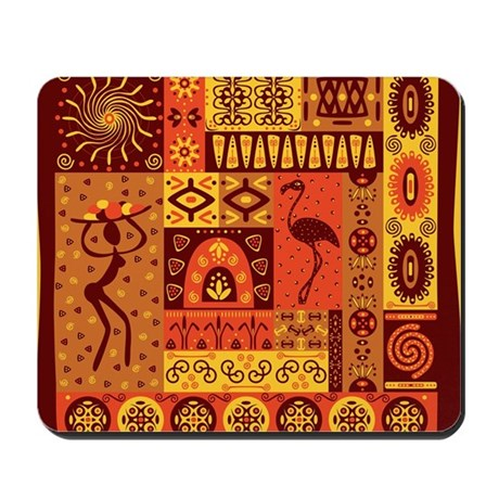 African Traditional Ornament Mousepad By Wickeddesigns4
