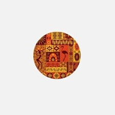 African Traditional Ornament Mini Button