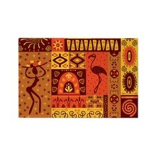 African Traditional Ornament Magnets