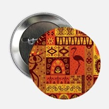 "African Traditional Ornament 2.25"" Button (10 pack"