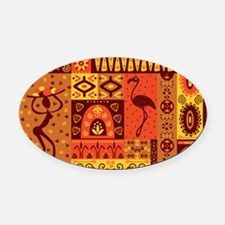 African Traditional Ornament Oval Car Magnet