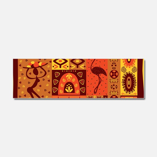African Traditional Ornament Car Magnet 10 x 3