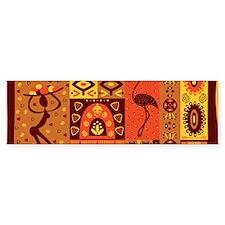 African Traditional Ornament Bumper Bumper Sticker
