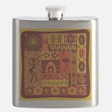 African Traditional Ornament Flask