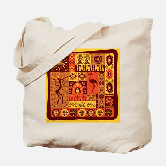 African Traditional Ornament Tote Bag