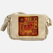 African Traditional Ornament Messenger Bag