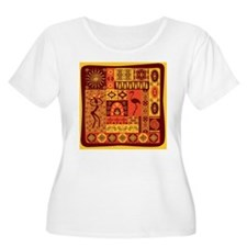 African Traditional Ornament Plus Size T-Shirt