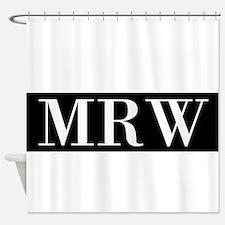 Your Initials Here Monogram Shower Curtain