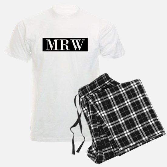 Your Initials Here Monogram Pajamas